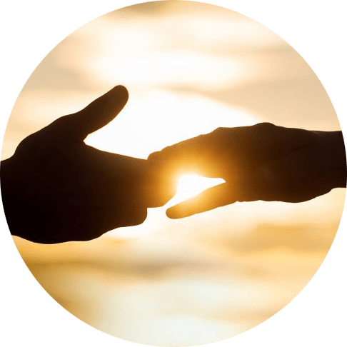Image of two hands touching with the sun in the background. This image represents how a sexual assault therapist in Louisville, CO can help sexual assault survivors.   80516   80007