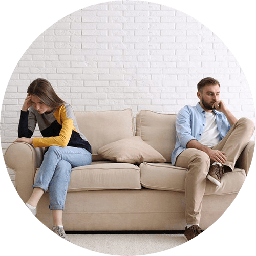 Unhappy couple | marriage counseling in Louisville, CO | couples therapy | couples therapist | 80027 | 80025